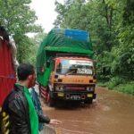 Diguyur Hujan Deras, Jalan Raya Hutan Baluran Situbondo Tergenang Air