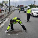 Terlindas Truk, Pemotor Asal Surabaya Tewas di Sidoarjo