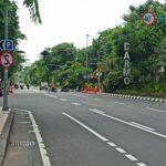 Jalan Darmo dan Tunjungan Surabaya Kembali Diterapkan Physical Distancing