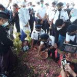 Ahli Spiritual Bicara Soal Kembar Mayang pada Makam Korban Sriwijaya Air di Surabaya