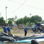 Banjir Surut, Dapur Umum di Lokasi Banjir Tempurejo Jember Dibongkar