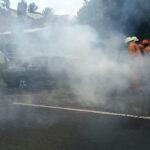 Berangkat Mancing, Sedan Honda Accord di Jember Ludes Terbakar