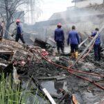 Bangunan Semi Permanen di Porong Sidoarjo Ludes Terbakar
