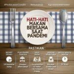 "Kampanye Anti Covid-19, ""Hati-hati Makan Bersama"""