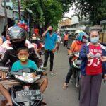 Peringati HPN,Wartawan Probolinggo Raya Berbagi Ribuan Masker