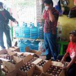 Polisi Gerebek Toko di Krian Sidoarjo, Ratusan Botol Miras Diamankan