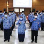 Pengukuhan Pengurus Baru Korpri Jombang 2020-2025, Begini Pesan Bupati