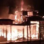 Diduga Korsleting Listrik, 6 Kios di Ruko Bungurasih Sidoarjo Terbakar