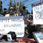 Unjuk Rasa Depan Mapolres Situbondo, Puluhan Wartawan Desak Polisi Tegasi Oknum Walpri Menteri KKP