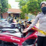 Razia Balap Liar, Polisi Giring 120 Pesepeda Motor ke Mapolres Pamekasan