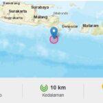 Guncangan Gempa 5,1 SR di Barat Daya Bali Terasa Sampai Jember