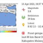 Gempa Susulan Berkekuatan 3,8 M di Malang, Warga Blitar Siaga