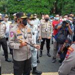 Kakorlantas Polri Cek Kesiapan Larangan Mudik di Surabaya