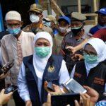Gubenur Jatim Bersama Bupati Blitar Tinjau Korban Gempa di Blitar