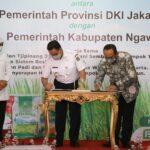 DKI-Ngawi Teken MOU Wujudkan Resi Gudang, Bupati: Produk Petani Dijamin Terbeli