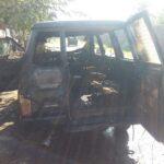 Ditinggal Beli Kurungan Ayam, Mobil Isuzu  Phanter di Situbondo Tiba-tiba Terbakar