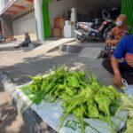 Pedagang Ketupat Musiman Menjamur di Kawasan Pasar Ngemplak Tulungagung