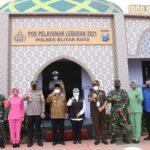 Wali Kota Blitar Bersama Kapolres Blitar Kota Kunjungi Pos Pantau dan Terminal Patria
